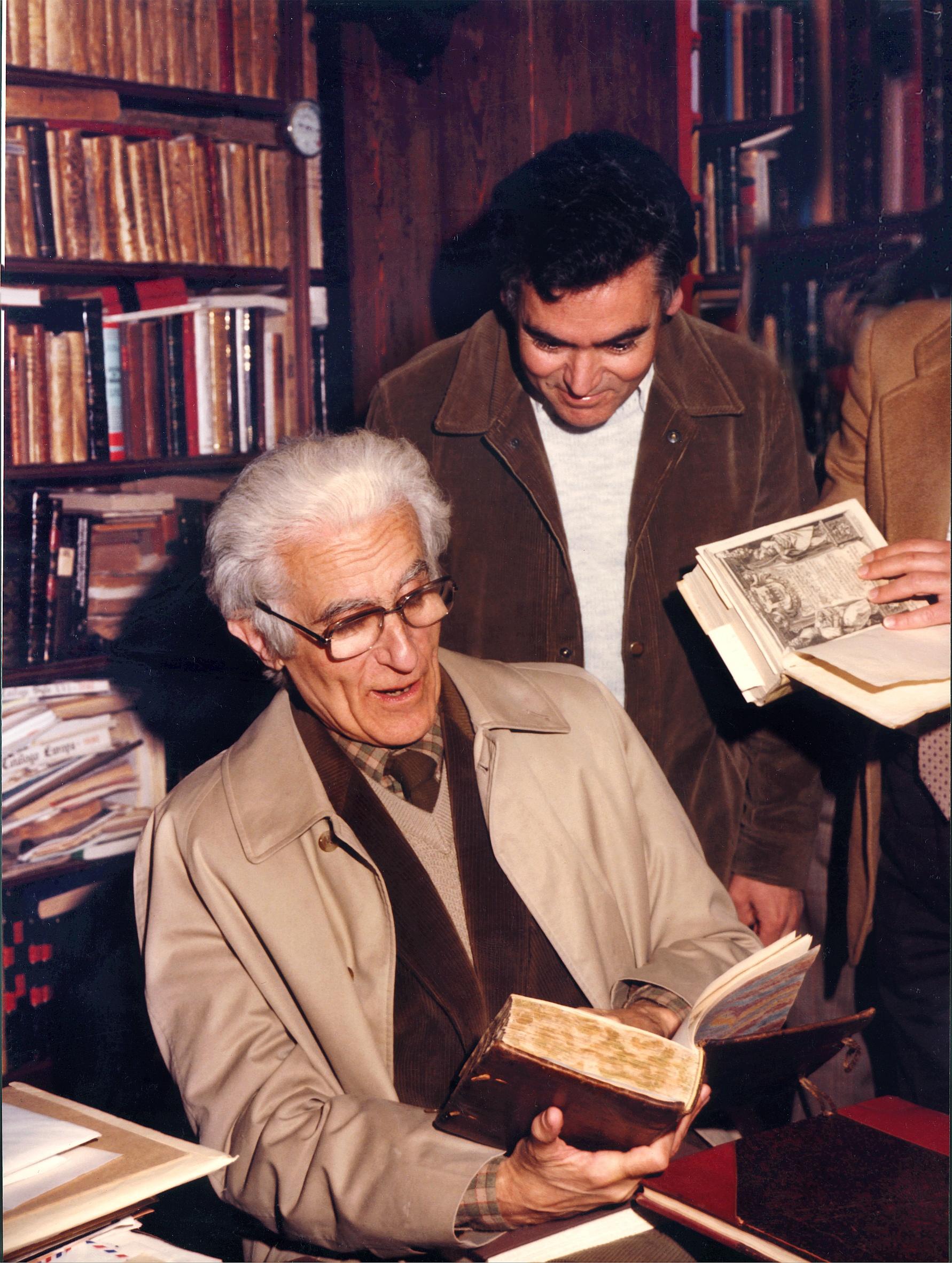 Manuel Ruiz Luque con Manuel Tuñón de Lara