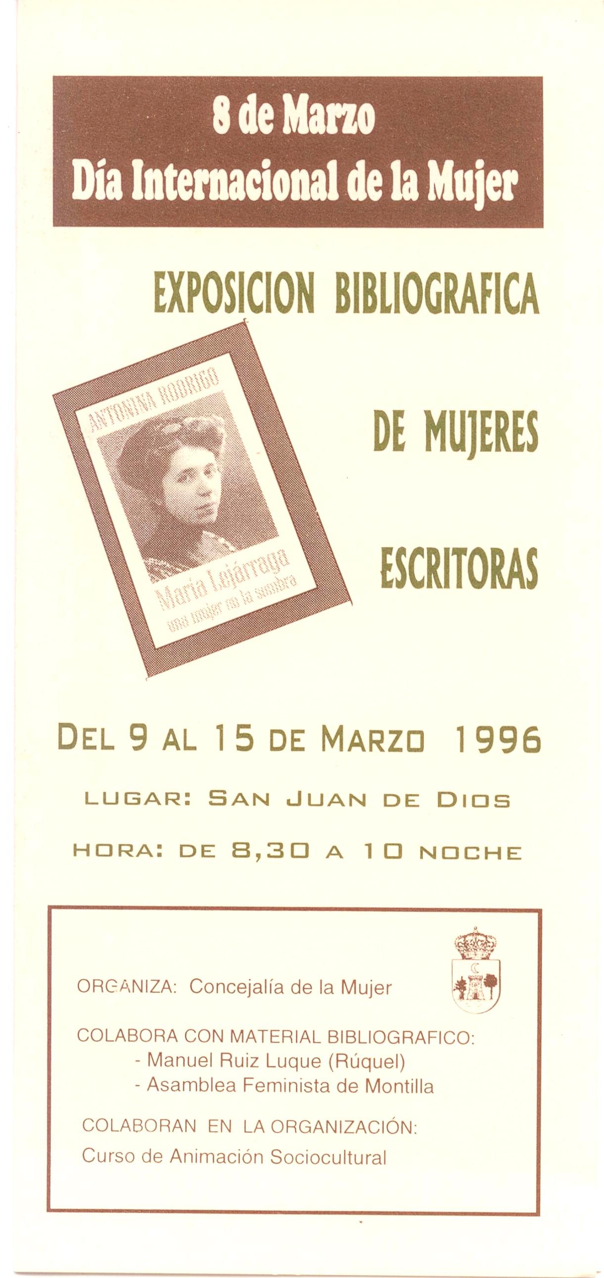 Exposición bibliográfica de mujeres escritoras