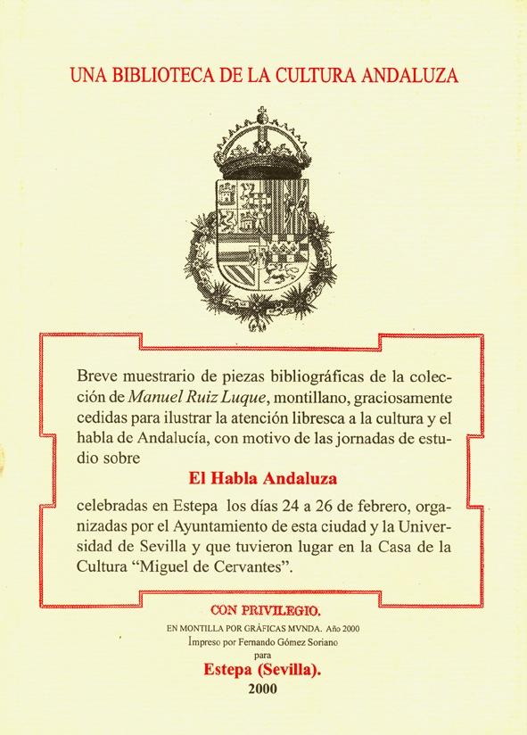 Exposición el habla andaluza