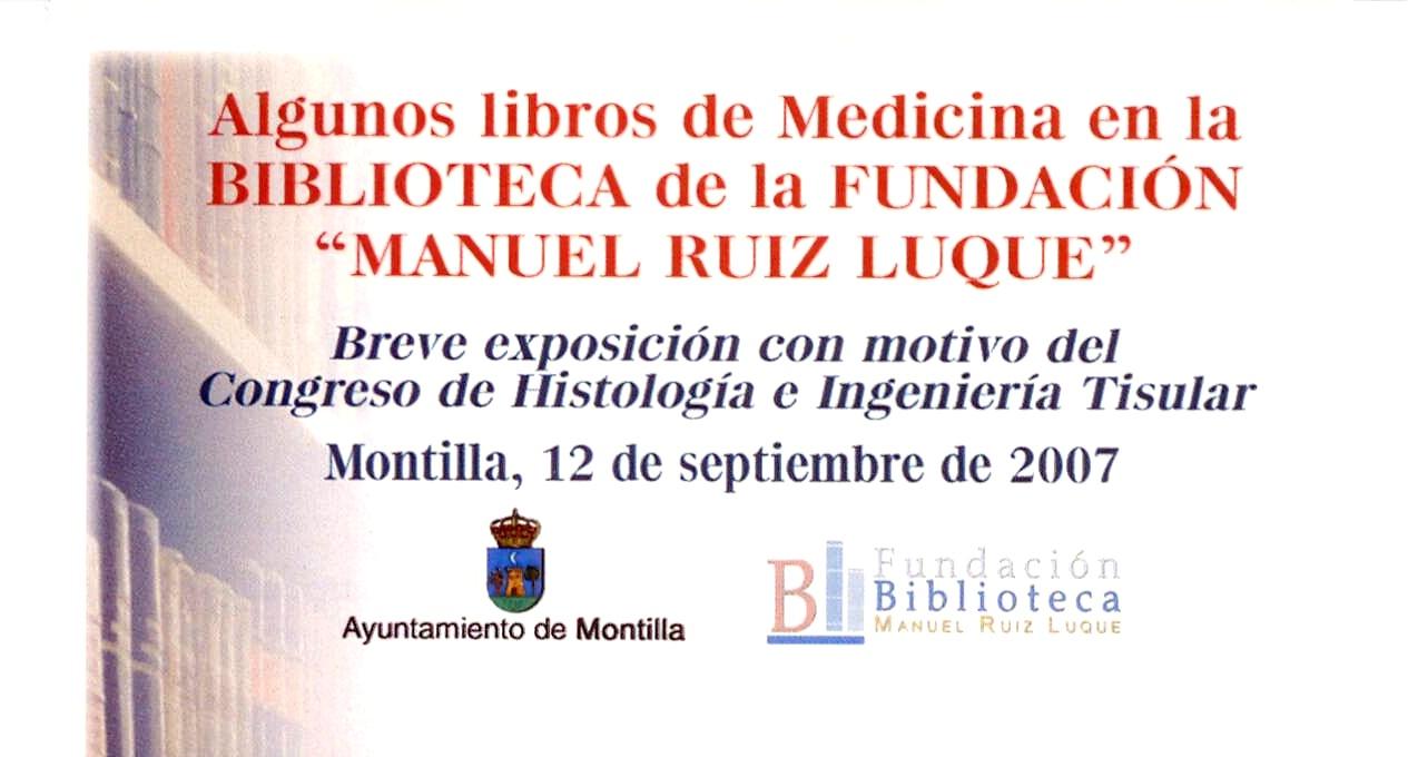 Exposición algunos libros de Medicina en la Fundación Biblioteca Manuel Ruiz Luque