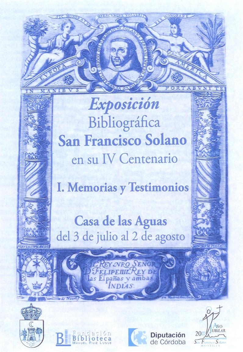 Exposición San Francisco Solano en su IV Centenario, I. Memorias y Testimonios