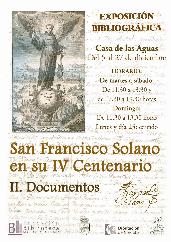 Exposición San Francisco Solano en su IV Centenario. Documentos