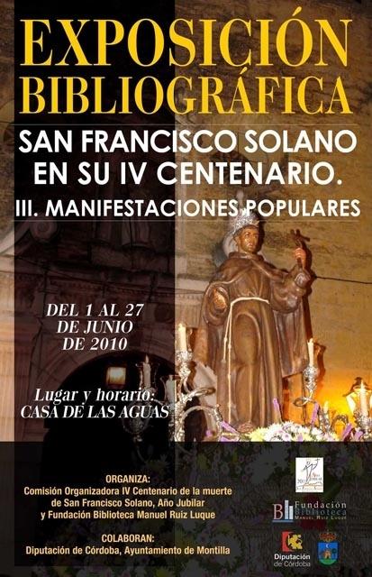 Exposición San Francisco Solano en su IV Centenario. Manifestaciones Populares