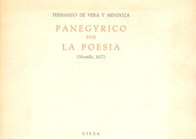 PANEGYRICO de Pérez Gómez